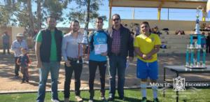 Premiación al segundo lugar de la Liga Municipal de futbol.